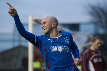 Nicky Law's two goals made the difference for Rangers