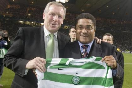 Billy McNeill and Eusebio in 2006
