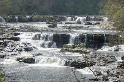 The spectacular views of the  Aysgarth Falls are not to be missed