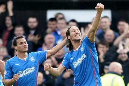 Red alert...Arnold Peralta and Bilel Mohsni's red cards have added to Rangers disciplinary count