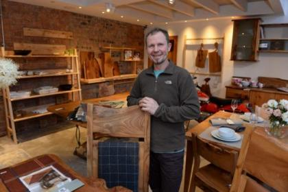 Glasgow cabinetmaker Paul Hodgkiss now has more space to show off his signature designs