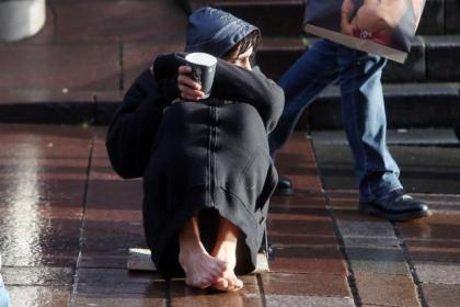 "Shoppers in the city centre have been targeted by ""barefoot beggars"""