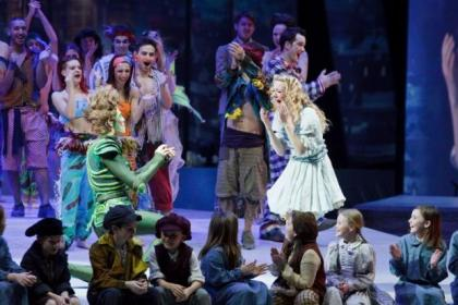 Peter Pan, Sandor Sturbl, proposed to Wendy, Lilly-Jane Young, live on stage