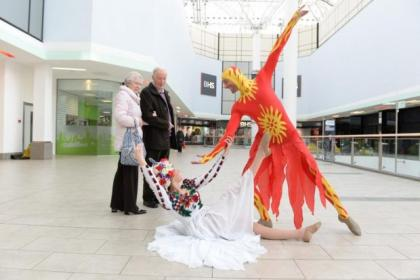 Dancers Nicola Gilmour and Brian MacIntyre performed at the St Enoch Centre