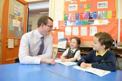 Teacher Adam Black has overcome a stutter