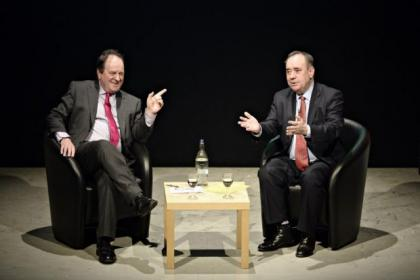 Journalist Jim Naughtie quizzed Alex Salmond at the Mitchell Theatre