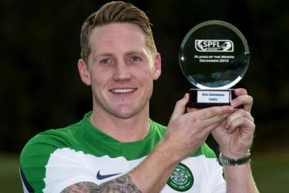Kris Commons picked up his first SPFL Player of the Month award for his form in December