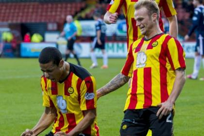 Blade stunner...Lyle Taylor has given Thistle a scoring edge since he signed from Sheffield United