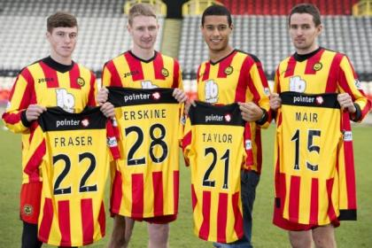 Partick Thistle's January signings Gary Fraser, Chris Erskine, Lyle Taylor and Lee Mair prepare to fight for Premiership safety