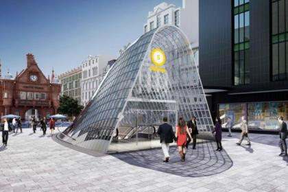Work on the St Enoch station is due to finish next year