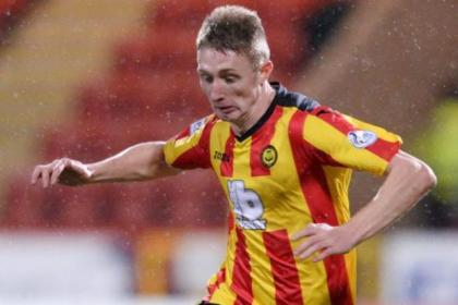 Chris Erskine was unlucky in front of goal against St Johnstone