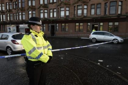 Westmuir Street was cordoned off after the lunchtime shooting