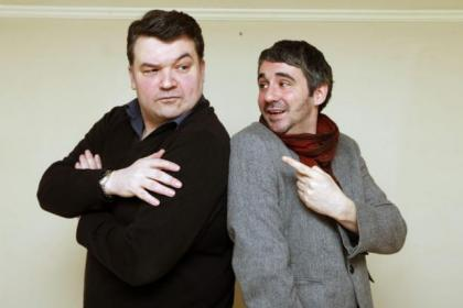 Steven McNicoll, left, and  Iain Robertson will star in  Frank's Dead, while below is  Steven in Legit with  Jordan Young