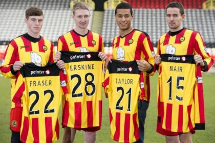 Gary Fraser, Chris Erskine, Lyle Taylor and Lee Mair have been welcomed into the Partick Thistle dressing room during the January transfer window