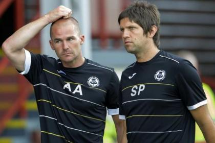 Partick Thistle manager Alan Archibald and assistant Scott Paterson