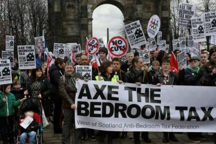 The 'bedroom tax' has caused outrage among tenants across Glasgow, sparking city protests