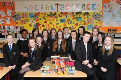 The school pupils have sent food packages to struggling local people