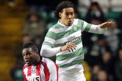 Virgil van Dijk was Celtic's top player in their 4-0 win against Kilmarnock last night