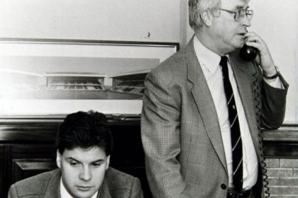 Derek signing for Rangers in 1985 with manager Jock Wallace