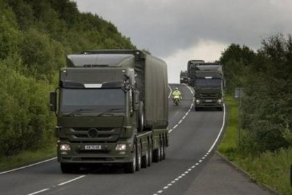 The weapons were transported along the M74 to the Coulport naval base