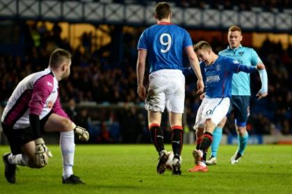 Dean Shiels grabs his hat-trick early in the second half