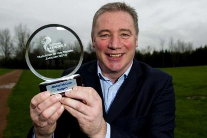 Rangers manager Ally McCoist's side are closing in on League One title