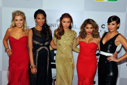 Singers Mollie King, Rochelle Humes, Una Healy, Vanessa White and  Frankie Sandford