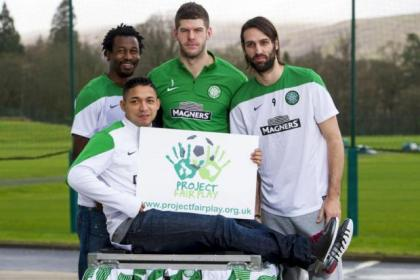 Efe Ambrose, Fraser Forster, Georgios Samaras and Emilio Izaguirre are backing the Project Fair Play initiative