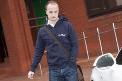 Griffiths was at Parkhead yesterday to seal deal