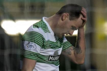 Anthony Stokes missed out on a goal against St Mirren
