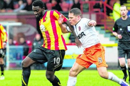 Buaben made his debut for the Jags against his old club Dundee United at Firhill on Saturday