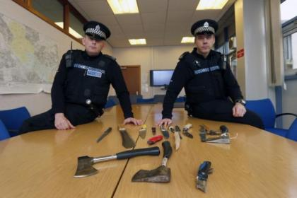 The weapons were recovered in a series of targeted searches