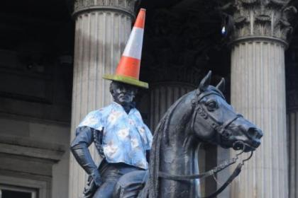 The Duke Of Wellington looking natty in his colourful new shirt