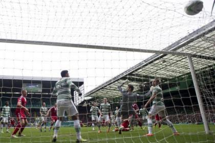 Celtic's defence is left stunned as Russell Anderson nets for Aberdeen on Saturday