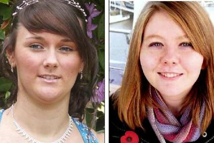 Mhairi Convy, 18, and Laura Stewart, 20, were killed in the crash
