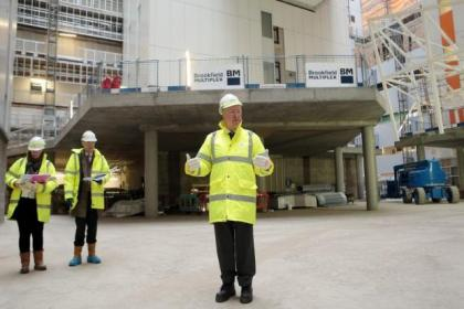 The superhospital in Glasgow will be ready a month earlier than expected
