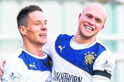 Ian Black and Nicky Law have formed a solid partnership in the Rangers midfield this season