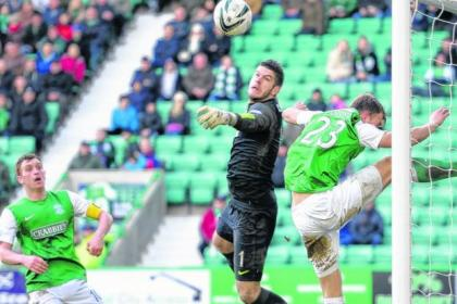 Fraser Forster is closing on Scottish shutout record