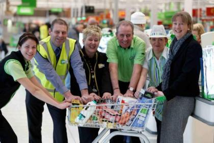 Shona Robison exercised by pushing supermarket trolleys