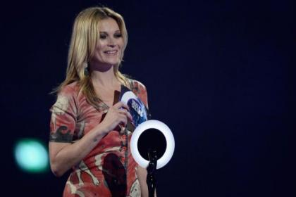 Kate Moss collected an award on behald of David Bowie