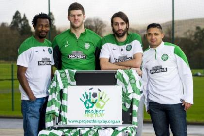 Celtic quartet Efe Ambrose, Fraser Forster, Georgios Samaras and Emilio Izaguirre are on hand to promote Project Fair Play