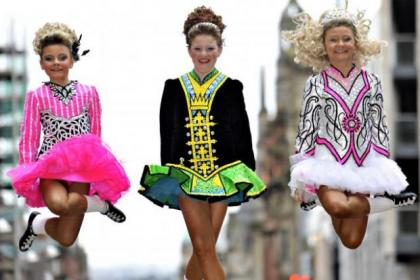 The dancers are in the city for the Irish Dance Championship