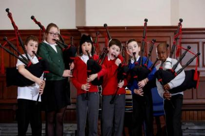 Govan youngsters are enjoying piping lessons