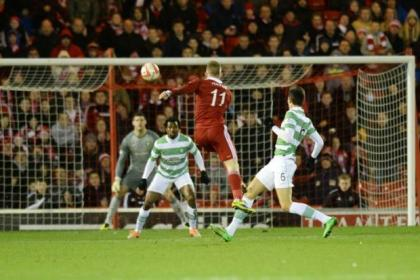 Jonny Hayes fires a stunning goal to put Aberdeen in front against Celtic