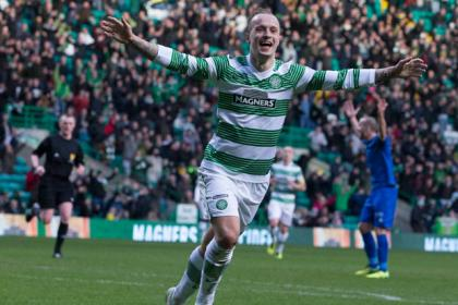 Celtic's Leigh Griffiths celebrates his third goal