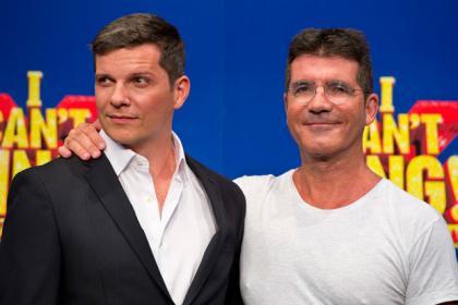 Nigel Harman and Simon Cowell