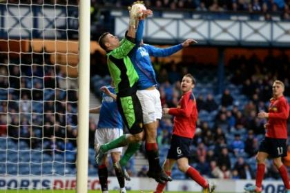 Bilel Mohsni's goal earned Rangers a replay against Albion Rovers