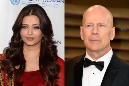 Bollywood star Aishwarya Rai and Hollywood actor Bruce Willis