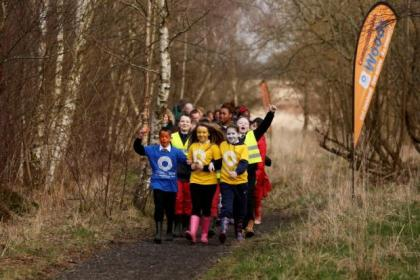 Youngsters from Glasgow launched the new path network