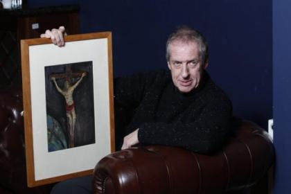 Peter Howson's first painting is to be auctioned for charity